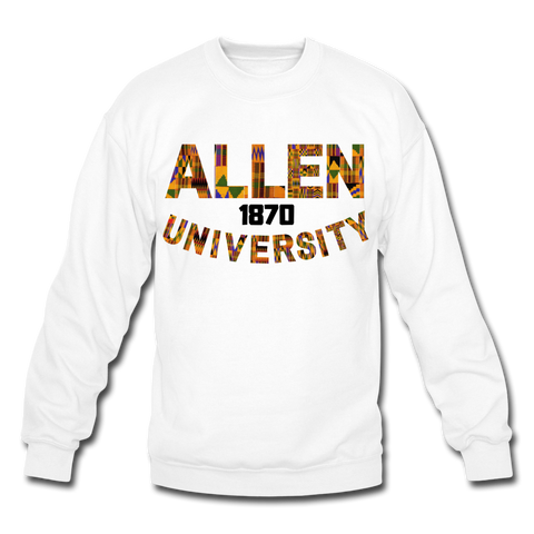 Allen University Rep U Heritage Crewneck Sweatshirt - white