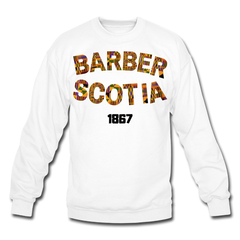 Barber-Scotia College Crewneck Sweatshirt - white