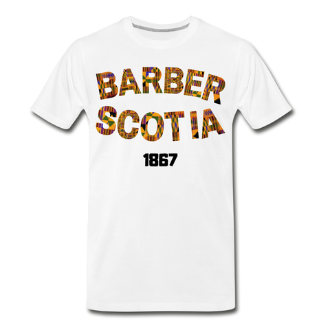 Barber Scotia College Rep U Heritage Short Sleeve T-Shirt - white