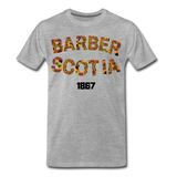Barber Scotia College Rep U Heritage Short Sleeve T-Shirt - heather gray