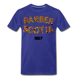 Barber Scotia College Rep U Heritage Short Sleeve T-Shirt - royal blue