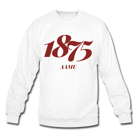 Alabama A&M University (AAMU) Rep U Year Crewneck Sweatshirt - white