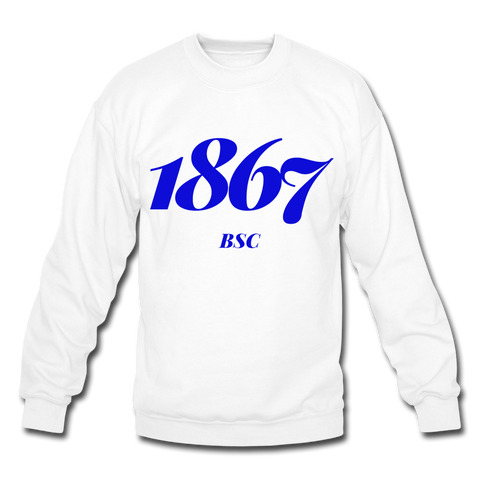 Barber-Scotia College Rep U Year Crewneck Sweatshirt - white