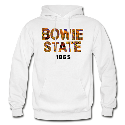 Bowie State University Rep U Year Adult Hoodie - white