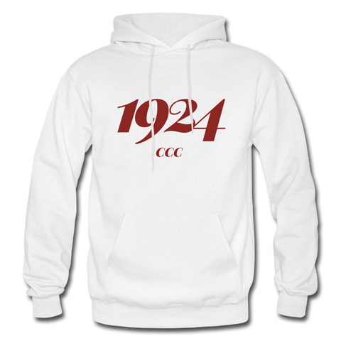 Coahoma Community College Rep U Year Adult Hoodie - white