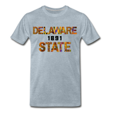 Delaware State University Rep U Heritage T-Shirt - heather ice blue