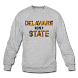 Delaware State University Rep U Heritage Crewneck Sweatshirt - heather gray