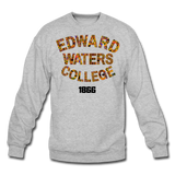 Edward Waters College Rep U Heritage Crewneck Sweatshirt - heather gray