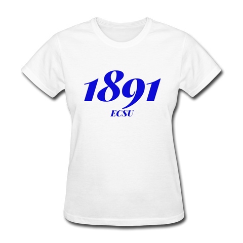 Elizabeth City State University (ECSU) Rep U Year Women's T-Shirt - white