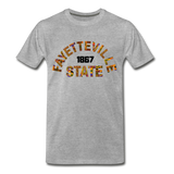 Fayetteville State University Rep U Heritage T-Shirt - heather gray