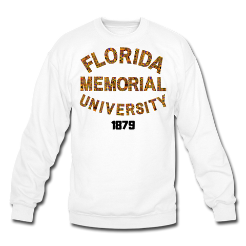 Florida Memorial University Rep U Heritage Crewneck Sweatshirt - white
