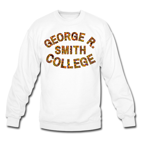 George R. Smith College Rep U Heritage Crewneck Sweatshirt - white