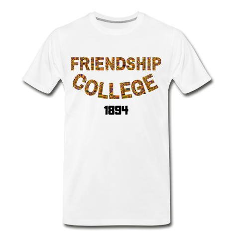 Friendship College Rep U Heritage T-Shirt - white