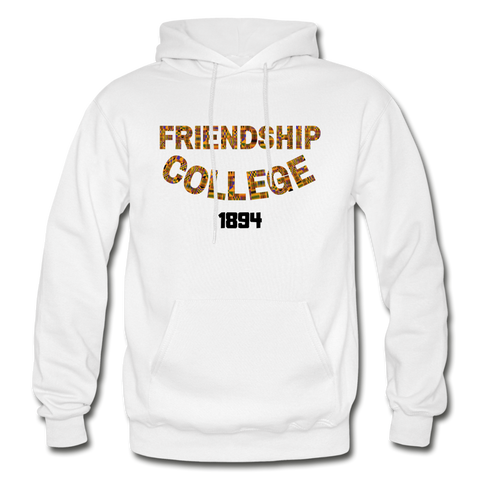 Friendship College Rep U Heritage Adult Hoodie - white