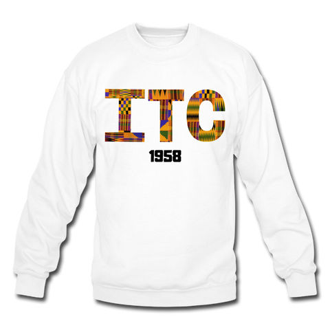 Interdenominational Theological Center (ITC) Rep U Heritage Crewneck Pullover Sweatshirt - white