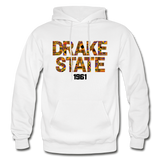 J F Drake State Community and Technical College Rep U Heritage Adult Hoodie - white