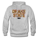J F Drake State Community and Technical College Rep U Heritage Adult Hoodie - heather gray