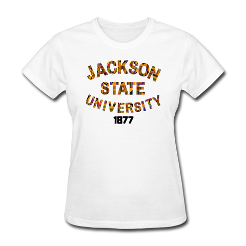 Jackson State University Rep U Heritage Women's T-Shirt - white