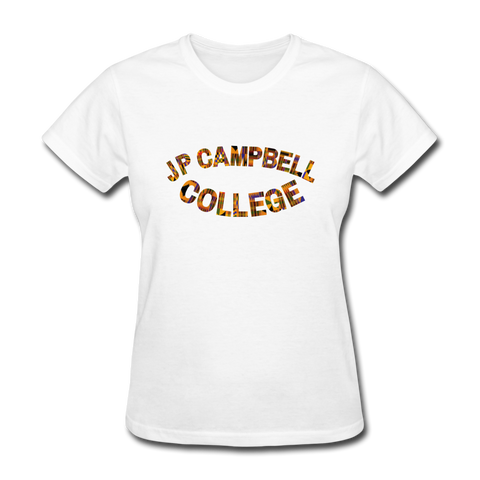 J P Campbell College Rep U Heritage Women's T-Shirt - white