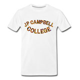 J P Campbell College Rep U Heritage T-Shirt - white