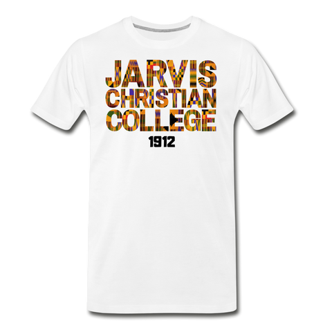 Jarvis Christian College Rep U Heritage T-Shirt - white