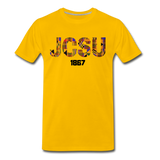 Johnson C. Smith University (JCSU) Rep U Heritage T-Shirt - sun yellow