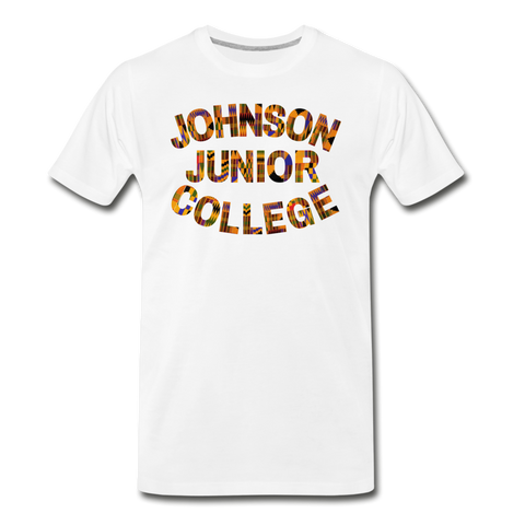 Johnson Junior College Rep U Heritage T-Shirt - white