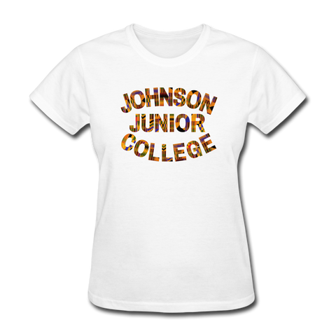 Johnson Junior College Rep U Heritage Women's T-Shirt - white