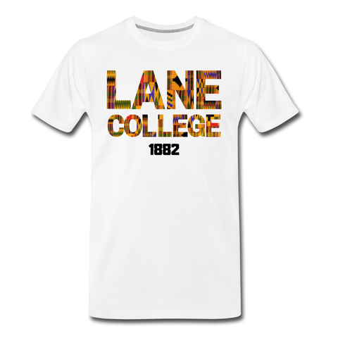 Lane College Rep U Heritage T-Shirt - white
