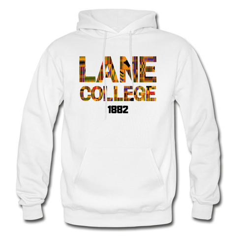 Lane College Rep U Heritage Adult Hoodie - white