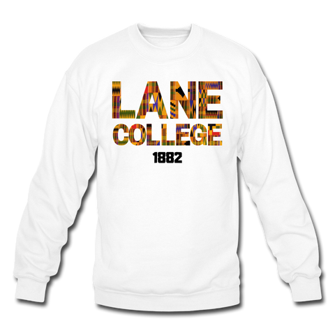 Lane College Rep U Heritage Crewneck Sweatshirt - white