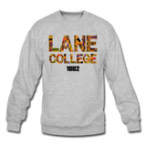 Lane College Rep U Heritage Crewneck Sweatshirt - heather gray