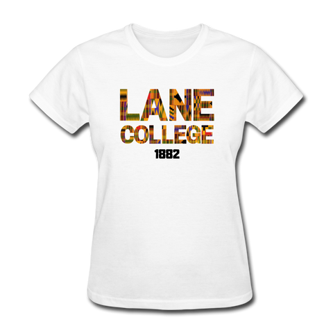 Lane College Rep U Heritage Women's T-Shirt - white