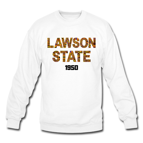 Lawson State Community College Rep U Heritage Crewneck Sweatshirt - white
