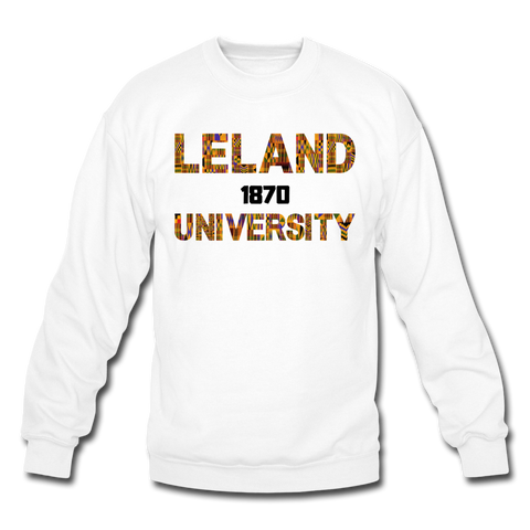 Leland University Rep U Heritage Crewneck Sweatshirt - white