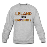 Leland University Rep U Heritage Crewneck Sweatshirt - heather gray