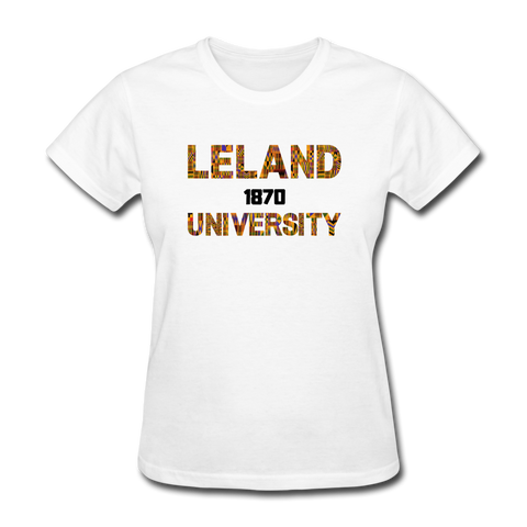 Leland University Rep U Heritage Women's T-Shirt - white