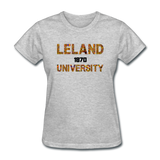 Leland University Rep U Heritage Women's T-Shirt - heather gray
