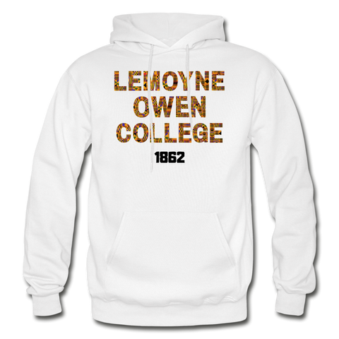 LeMoyne-Owen College Rep U Heritage Adult Hoodie - white