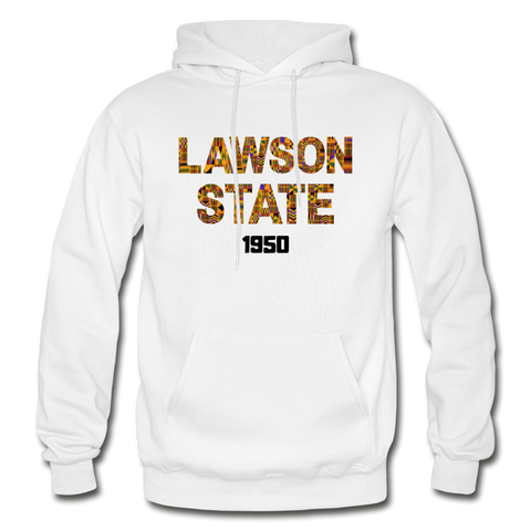 Lawson State Community College Rep U Heritage Adult Hoodie - white