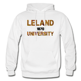 Leland University Rep U Heritage Adult Hoodie - white