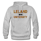 Leland University Rep U Heritage Adult Hoodie - heather gray
