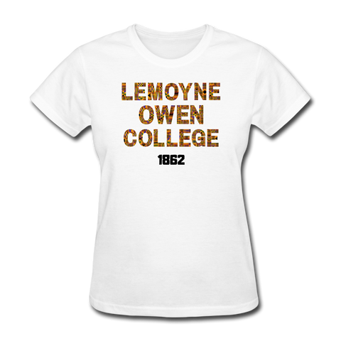 LeMoyne-Owen College Rep U Heritage Women's T-Shirt - white