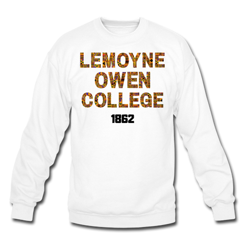 LeMoyne-Owen College Rep U Heritage Crewneck Sweatshirt - white
