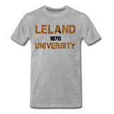 Leland University Rep U Heritage T-Shirt - heather gray