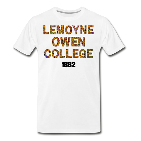 LeMoyne-Owen College Rep U Heritage T-Shirt - white