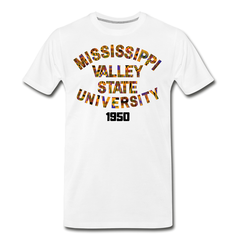 Mississippi Valley State University Rep U Heritage T-Shirt - white