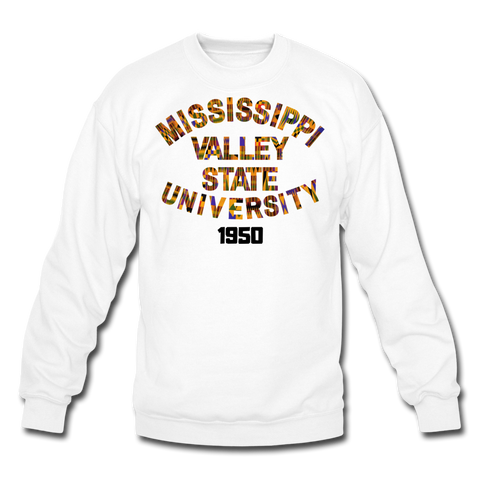 Mississippi Valley State University Rep U Heritage Crewneck Sweatshirt - white