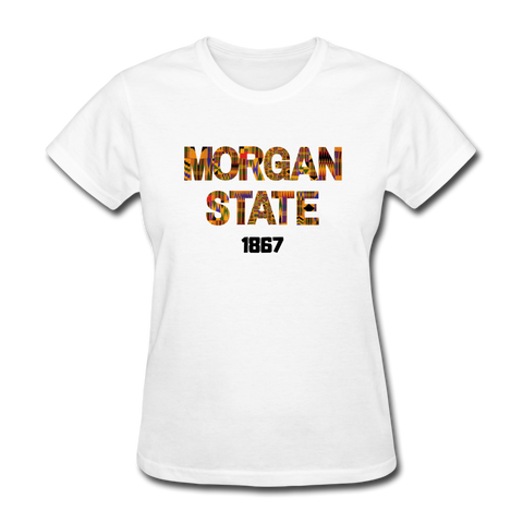 Morgan State University Rep U Heritage Women's T-Shirt - white