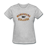 Morehouse College Rep U Heritage Women's T-Shirt - heather gray